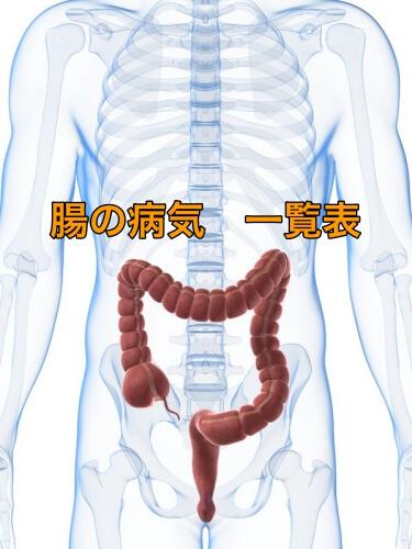 大腸、小腸の病気 一覧表